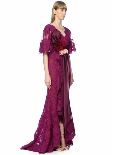 Marchesa Couture Elbise Pembe
